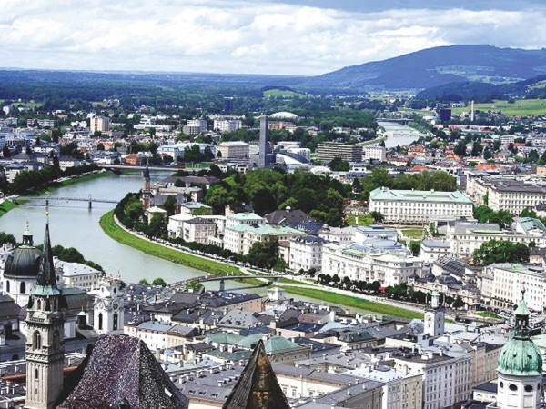 View of Salzburg from train. (Photos provided)