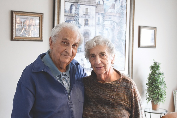 Lewis and Carole Cohen met on a train platform in New York and have shared a love that has lasted 60 years ... and counting! (Photo by Chris LaPelusa/Sun Day)