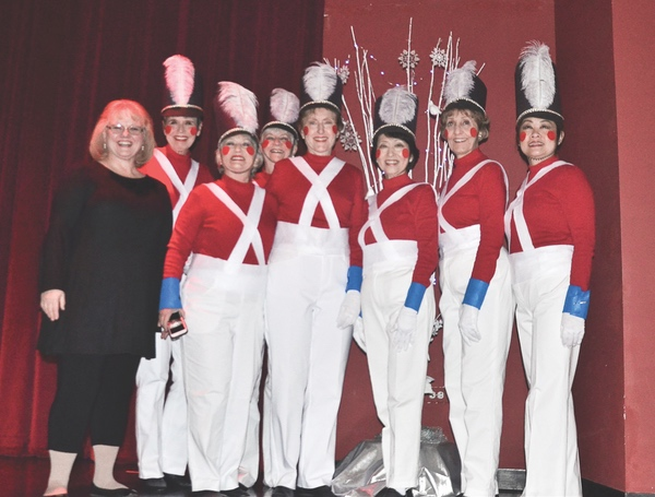 Sun City Strutters performing The Wooden Soldier March at the combined Strutters Prairie singers Christmas show on November 29. (Photos by Christine Such/Sun Day)