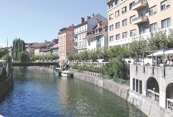 Slovenia Capital Riverfront.